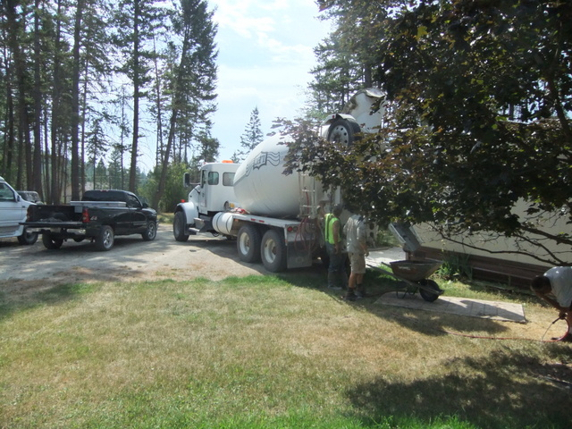Concrete Truck Arrives